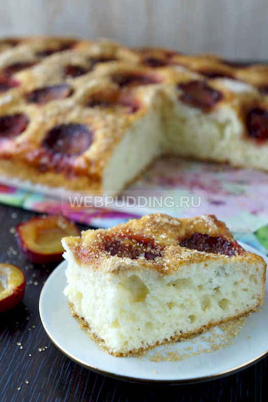 Пироги с замороженными сливами рецепты с