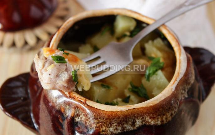Картошка в горшочках с фаршем в духовке рецепт 57