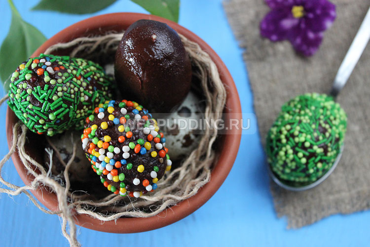 Шоколадные пасхальные яйца