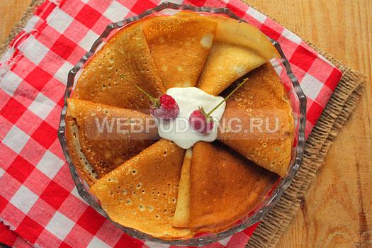 Рецепт блинов на сыворотке пошаговое