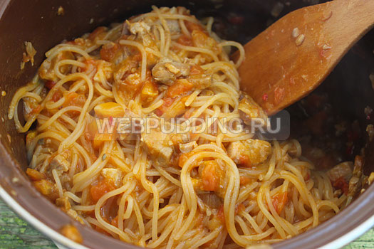Спагетти по-итальянски с сыром рецепт с фото пошагово