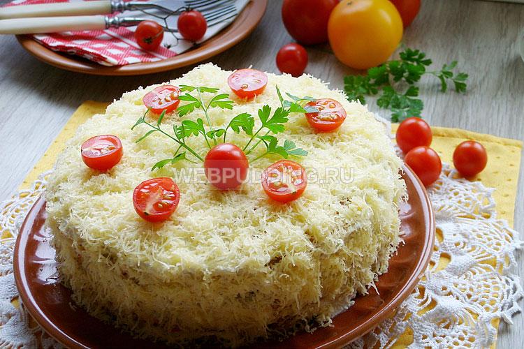 Кабачковый торт рецепт с пошагово с чесноком