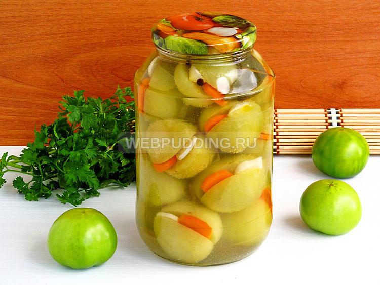 Рецепт помидор с зеленью и чесноком