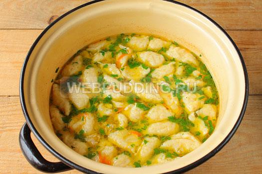 Грибной суп с галушками рецепт пошагово