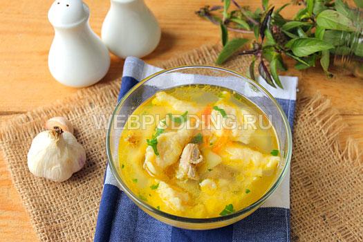 Как сделать суп из галушек рецепт 253