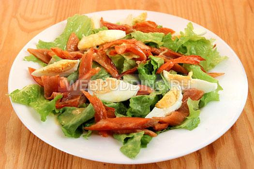 Салат цезарь с семгой в домашних условиях рецепт пошагово с