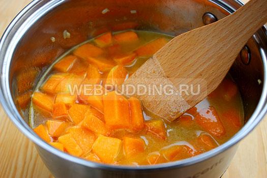 Тыквенный суп-пюре с пошагово