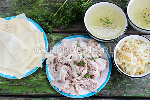 Бешбармак с курицей рецепт пошагово с фото