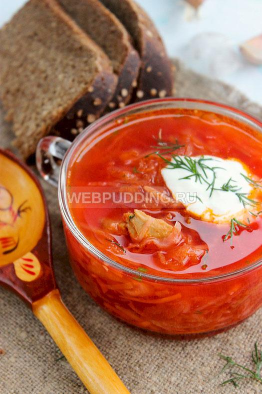 Борщ с квашеной капустой рецепт пошаговый с украинский