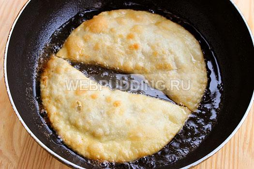 Чебуреки из кефира рецепт с пошаговый