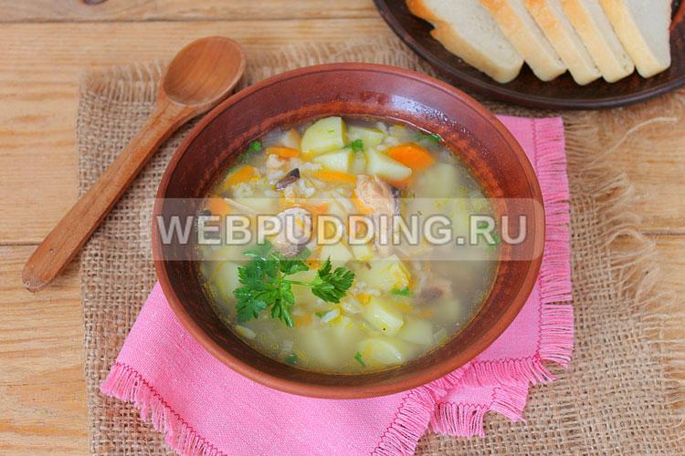 Суп с шампиньонами и вермишелью в мультиварке
