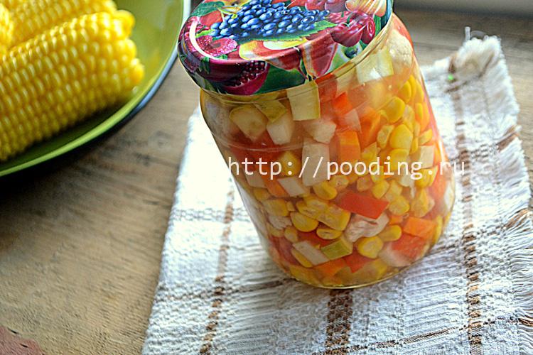Кукуруза консервированная с овощами