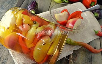 Маринованный перец с яблоками на зиму