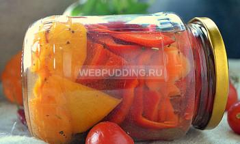 Маринованный сладкий перец с тыквой