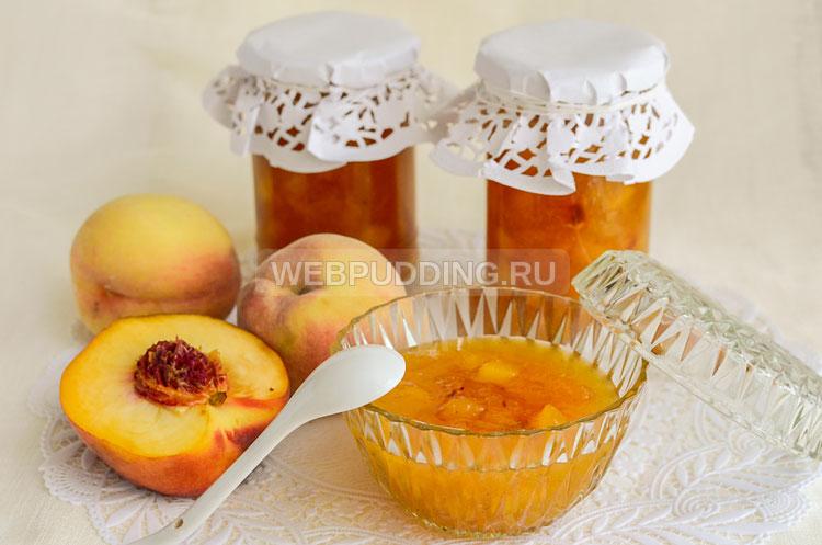 Персиковое варенье с ванилином рецепт