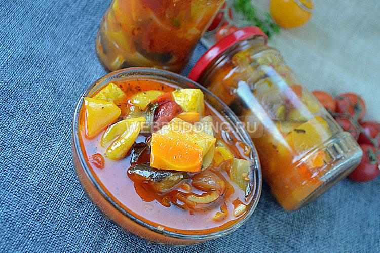 Овощной салат на зиму по-армянски