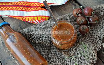 Рецепт сырой аджики из томатов и слив
