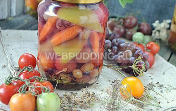 Черри на зиму с виноградом