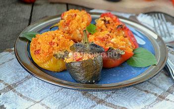 Перец фаршированный кускус и сыром