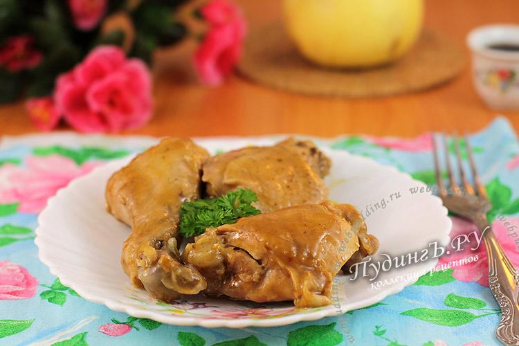 рецепт курица в имбирном соусе