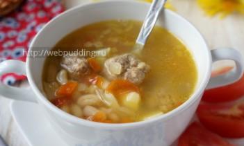 Суп с фасолью и фрикадельками