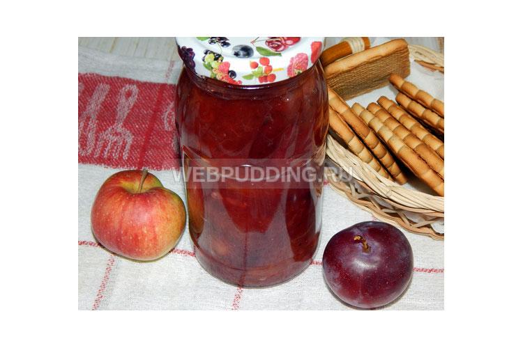Густое варенье из слив и яблок