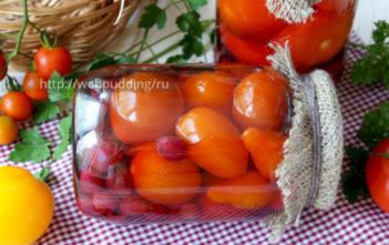 Маринованные помидоры с крыжовником