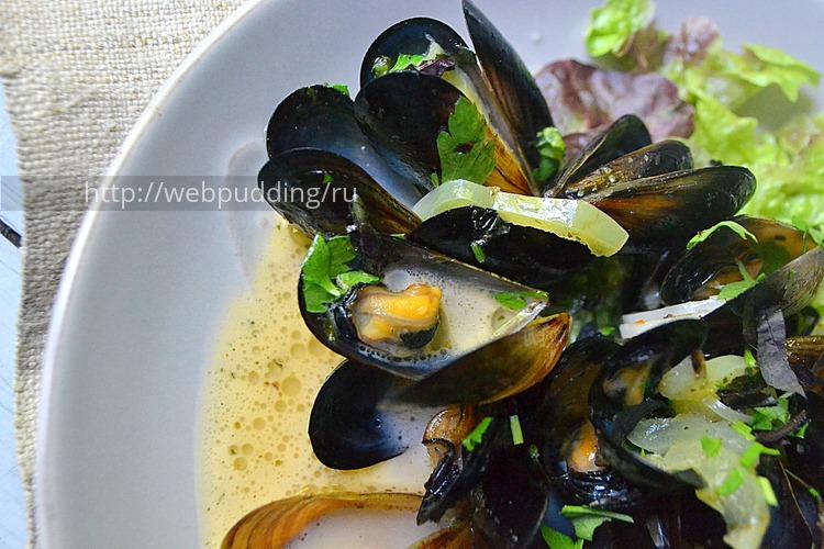 Мидии в сливочном и чесночно-сливочном соусе