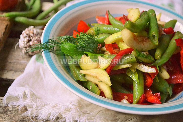 Салат из стручковой фасоли по-корейски