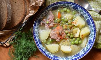 Суп прованский с горошком