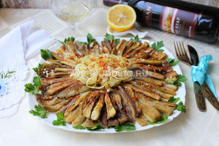 Теплый салат из баклажанов с шафраном
