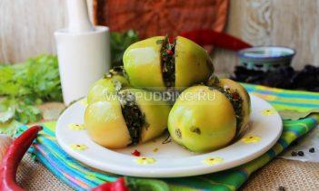 Малосольные зеленые помидоры по-армянски