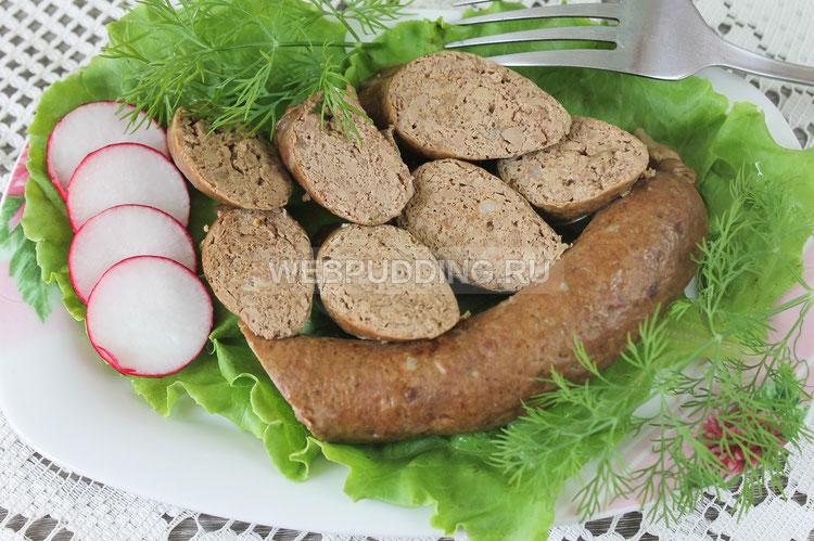 Печеночная колбаса в домашних условиях