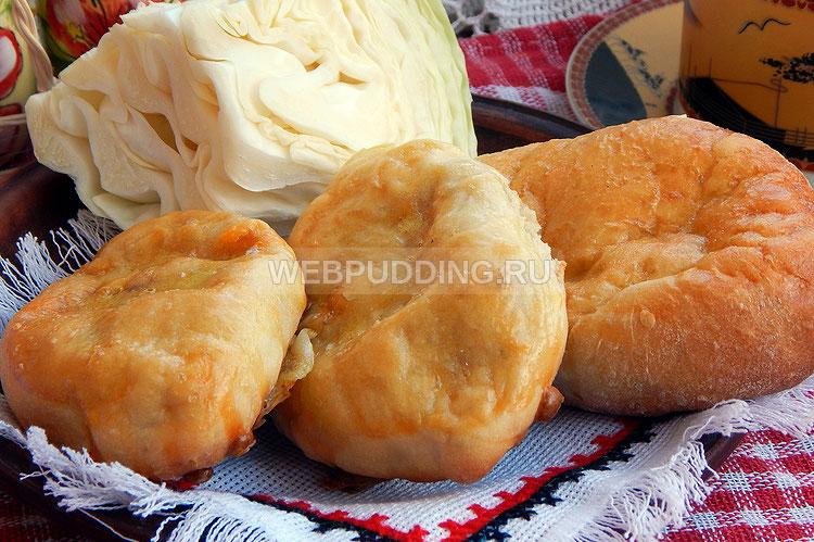 Пирожки с капустой и сосисками