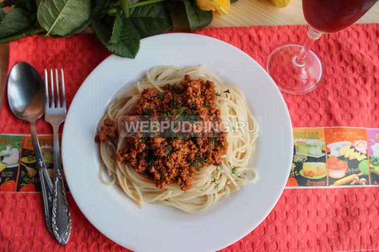 Спагетти с соусом а-ля болоньезе