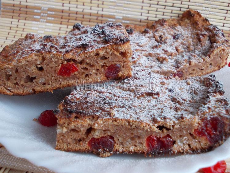 Творожный пирог с печеньем