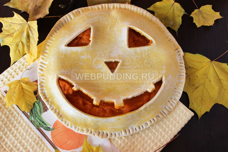 Тыквенный пирог на Хеллоуин