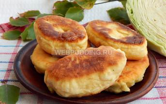 Пирожки с капустой на простокваше