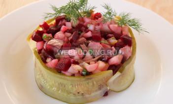 Салат из свеклы и селедки