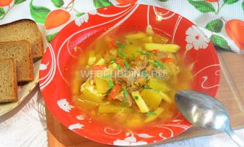 Суп с тыквой «Краски осени» в мультиварке