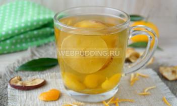 Компот из сухофруктов и мандаринов