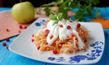 Салат из топинамбура со сметаной