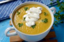 Суп-пюре из тыквы с топинамбуром