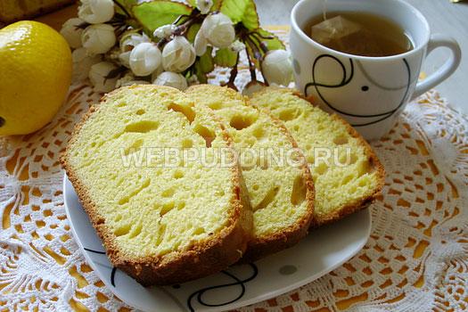 Кекс лимонный рецепт без масла