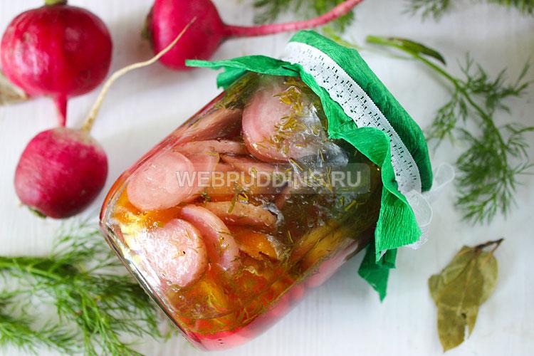 Салат из редиски с перцем на зиму