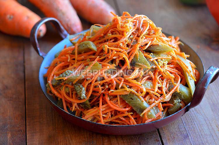 Баклажаны маринованные с морковью