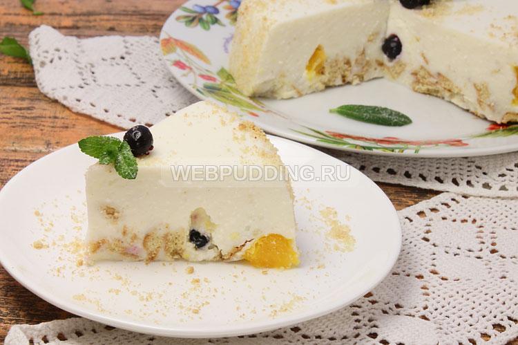 Фруктовый торт с желе