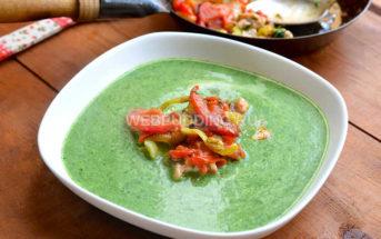 Сливочный суп-пюре из шпината