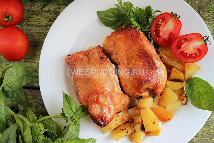 Куриные спинки с картошкой в духовке