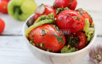 Малосольные помидоры в пакете, быстрые